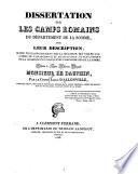 Dissertation sur les camps romains du d  partement de la Somme