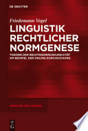 Linguistik rechtlicher Normgenese
