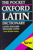 The Pocket Oxford Latin Dictionary
