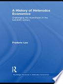 A History Of Heterodox Economics book