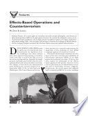 Effects Based Operations and Terrorism  A Reprint from    Air and Space Power Journal