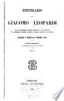Epistolario di Giacomo Leopardi