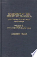 Handbook of the American Frontier: Chronology, bibliography, index