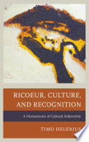 Ricoeur  Culture  and Recognition