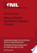 National  regional and minority languages in Europe
