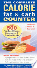 The Complete Calorie Fat   Carb Counter