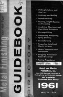 Metal Finishing Guidebook Directory