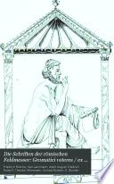 Die Schriften der r  mischen Feldmesser  Gromatici veteres