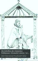 Die Schriften der römischen Feldmesser