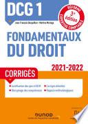 Dcg 1 Fondamentaux Du Droit Corrig S 2021 2022