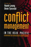Conflict management in the Asia Pacific