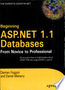 Beginning Asp Net 1 1 Databases From Novice To Professional