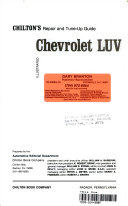 Chilton s repair and tune up guide  Chevrolet LUV