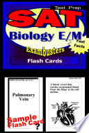 SAT Biology Test Prep E M Review  Exambusters Flash Cards