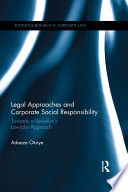 Legal Approaches and Corporate Social Responsibility