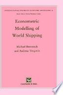 Econometric Modelling of World Shipping
