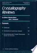 Crystallography Reviews