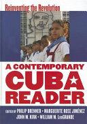 A Contemporary Cuba Reader