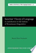 Sanctius  Theory of Language