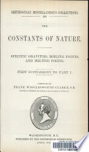 Specific Gravities Boiling Points And Melting Points