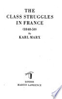 The Class Struggles in France  1848 50