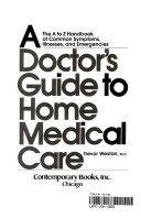 A Doctor S Guide To Home Medical Care