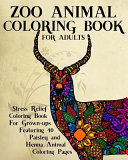Zoo Animal Coloring Book for Adults
