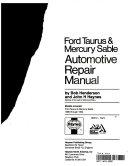 Ford Taurus Mercury Sable