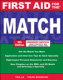 First Aid for the Match  Fourth Edition