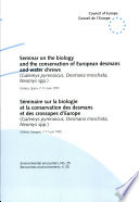 Seminar on the Biology and the Conservation of the European Desmans and Water Shrews  Galemys Pyrenaicus  Desmana Moschata  Neomys Spp