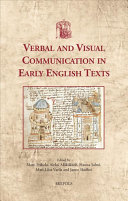 Verbal And Visual Communication In Early English Texts