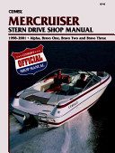 Clymer Mercruiser Stern Drive Shop Manual  1998 2001