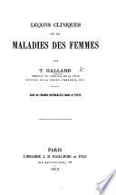 Le Ons Cliniques Sur Les Maladies Des Femmes Etc