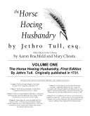 The Horse Hoeing Husbandry, Fifth Edition in Six Volumes