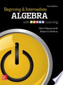 Beginning and Intermediate Algebra with P O W E R  Learning