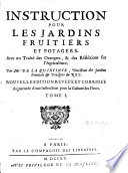 illustration Instruction pour les jardins fruitiers et potagers