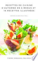 illustration Recettes de Cuisine d'Automne En 6 menus et 18 recettes illustrées