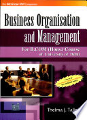Business Organisation And Management  For Delhi University B Com Hons  Course