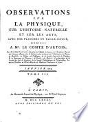 Observations sur la physique, sur l'histoire naturelle et sur les arts