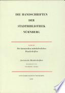 Die Handschriften der Stadtbibliothek Nürnberg