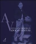 Attualit   e memoria in Adolfo Venturi