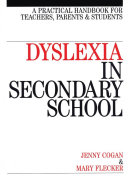 Dyslexia in the Secondary School