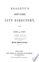 Doggett's New-York City Directory, for