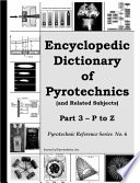 Encyclopedic Dictionary of Pyrotechnics