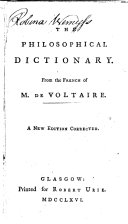 The philosophical dictionary, from the French
