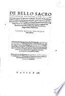De bello sacro continuatae historiae libri VI