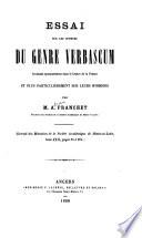 Essai sur les espèces du genre Verbascum croissant spontanément dans le centre de la France et plus particulièrement sur leurs hybrides