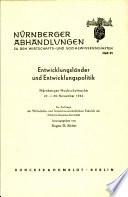 Entwicklungslander und Entwicklungspolitik