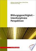 Bildungsgerechtigkeit interdisziplinäre Perspektiven