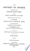 The Iliad and Odyssey  and The battle of the frogs and mice  tr  into Engl  blank verse by W  Cowper